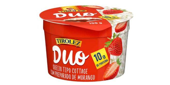 Lançamento inédito no Brasil para comer de colher: Duo Tirolez, Queijo Cottage com geleia de frutas