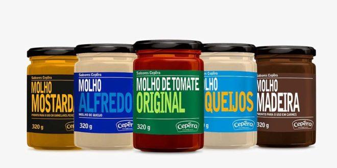 Linha Molhos Sabores Cepêra ganha novos sabores e embalagem em vidro